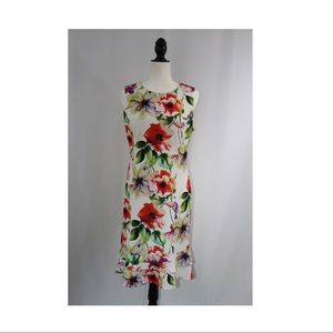 Ronni Nicole Floral Dress With Small Ruffles